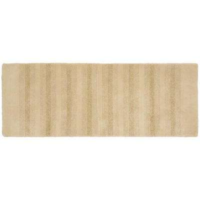 Essence Linen 22 in. x 60 in. Washable Bathroom Accent Rug