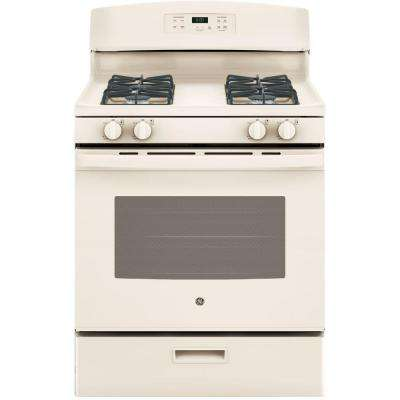 30 in. 4.8 cu. ft. Free-Standing Gas Range in Bisque