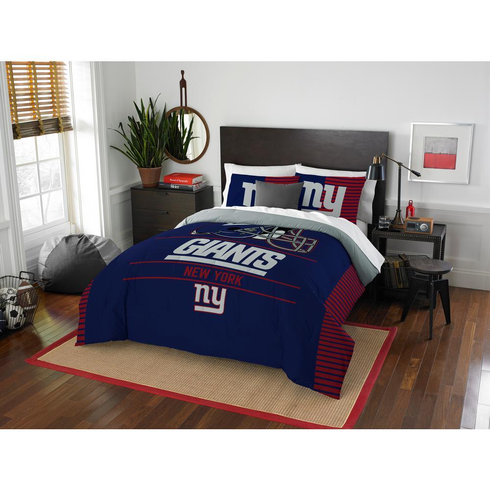 Superbe NY Giants 3 Piece Draft Multi Full/Queen Comforter Set
