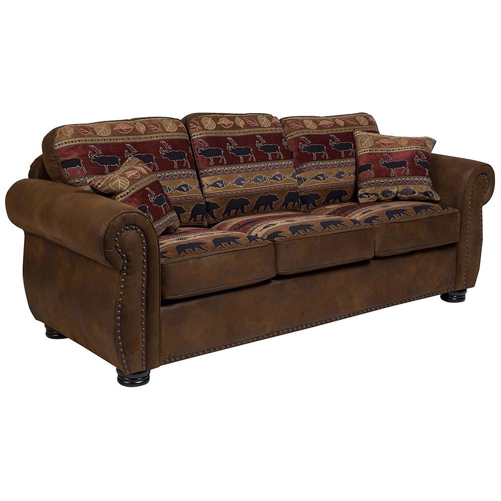 Hunter Transitional Sofa In Wildlife Pattern