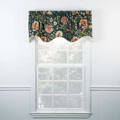 Regency 15 in. L Cotton Lined Duchess Filler Valance in Navy