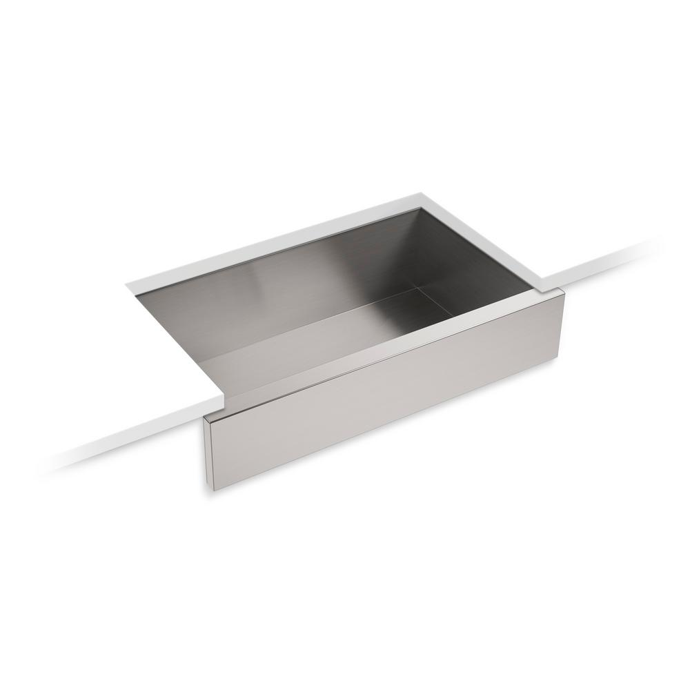 Superbe Lyric Apron Front Stainless Steel 34 In. L Single Bowl Kitchen Sink