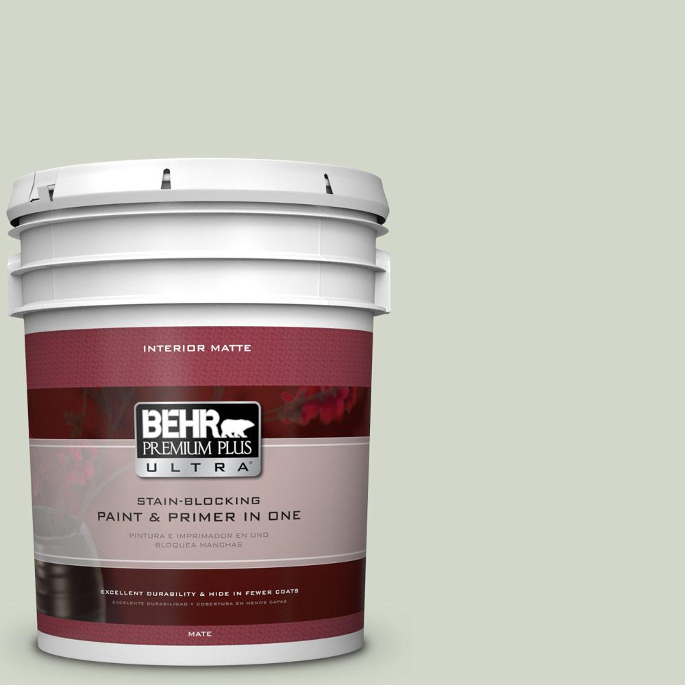 BEHR Premium Plus Ultra Home Decorators Collection 5 gal. #HDC-CT-25 Bayberry Frost Flat/Matte Interior Paint