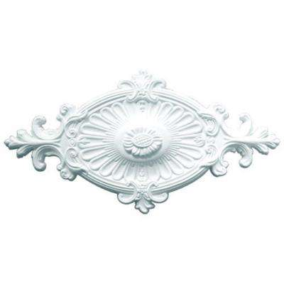 23-3/4 in. x 12-1/4 in. x 1-3/4 in. Leaf Polyurethane Ceiling Medallion
