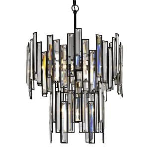 Fifth and Main Lighting Madison 18 inch 4-Light Aged Bronze Two Tier Frame with Crystal Prisms by Fifth and Main Lighting