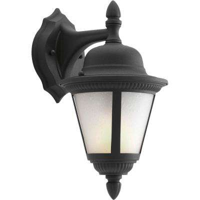 Westport Collection Wall Mount 12.6 in. Outdoor Black Wall Lantern Sconce