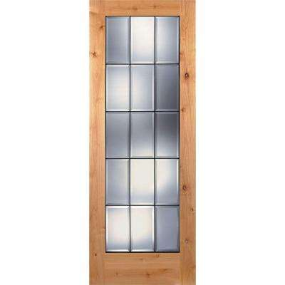 Unfinished 15 Lite Slab Doors Interior Closet Doors The