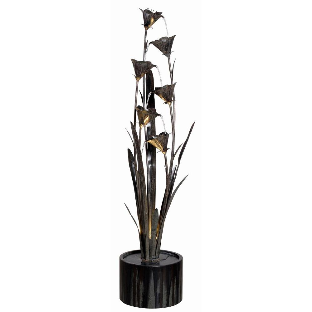 Kenroy Home Lily Blue Bronze Indoor/Outdoor Floor Fountain ...