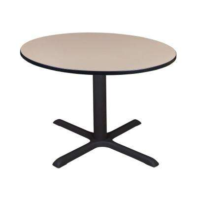 Cain Beige Round 48 in. Breakroom Table