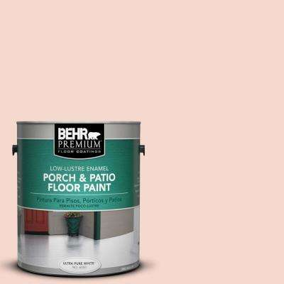1 gal. #M190-1 Pink Sea Salt Low-Lustre Interior/Exterior Porch and Patio Floor Paint
