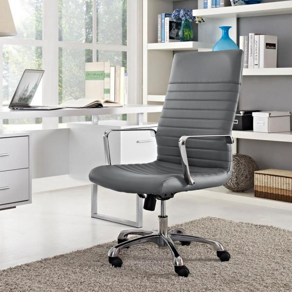 MODWAY Finesse Highback Office Chair in Gray EEI-1061-GRY