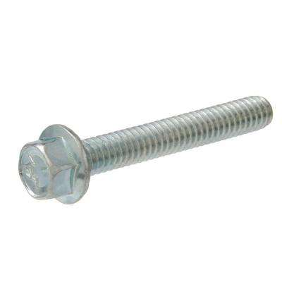 3/8-16 in. x 1-1/4 in. Zinc-Plated Hex-Head Serrated Flange Bolt