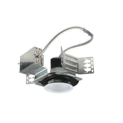 NICOR 4 in. White (4000K) Recessed Architectural LED Downlight Kit with Housing and LED Trim with 1460 Lumens