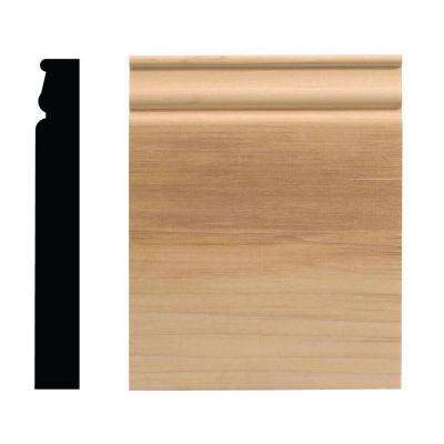 940PB 1-1/16 in. x 6-1/2 in. x 8 in. White Hardwood Plinth Block Moulding
