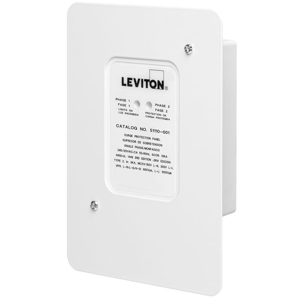Leviton 120 Volt 240 Residential Whole House Surge Protector Wiring Outlet