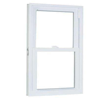 29.75 in. x 57.25 in. 70 Series Pro Double Hung White Vinyl Window with Buck Frame