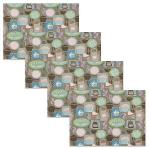 Tasty 19 in. x 14 in. Browns/Tans Cotton Placemats (Set of 4)