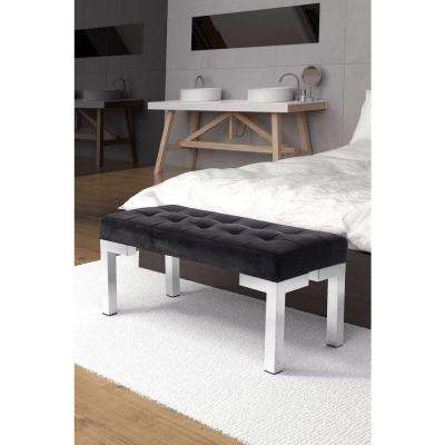 Partner Black Velvet Bench
