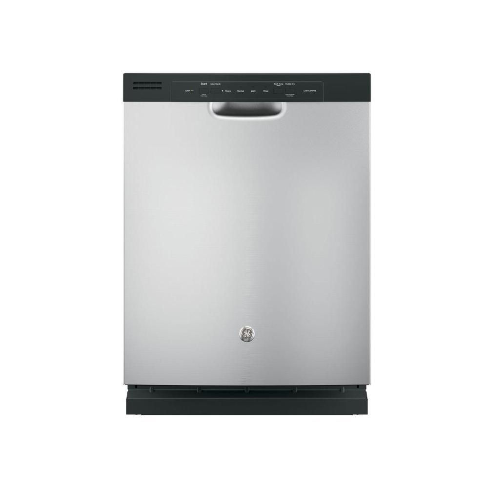 Front Control Built-In Tall Tub Dishwasher in Silver