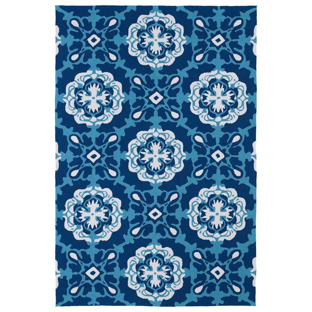 Kaleen Matira Blue 3 ft. x 5 ft. Indoor/Outdoor Area Rug