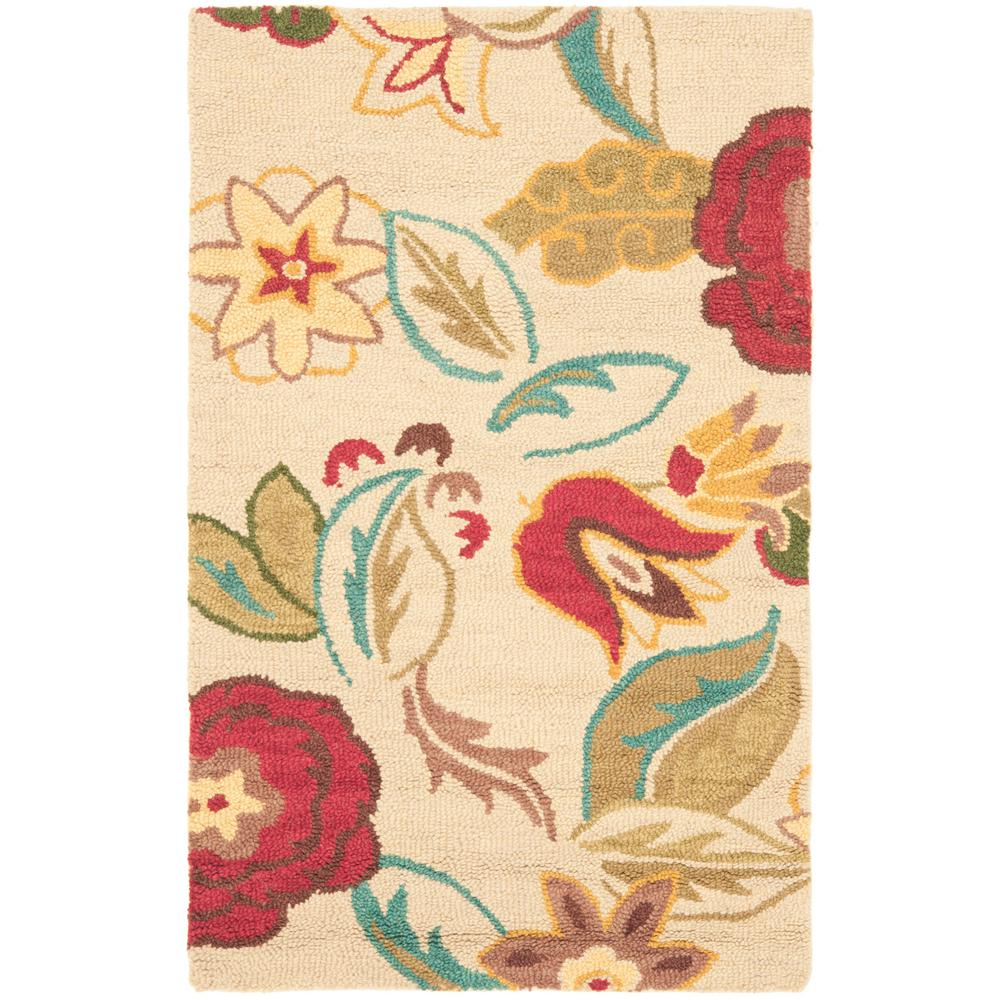 Blossom Beige/Multi 2 ft. 6 in. x 4 ft. Area Rug