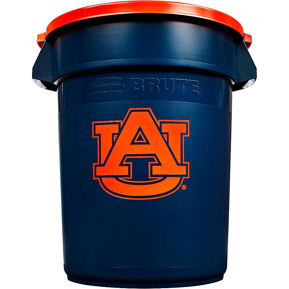 Rubbermaid Commercial Products BRUTE NCAA 32 Gal. Auburn University Round Trash Can with Lid