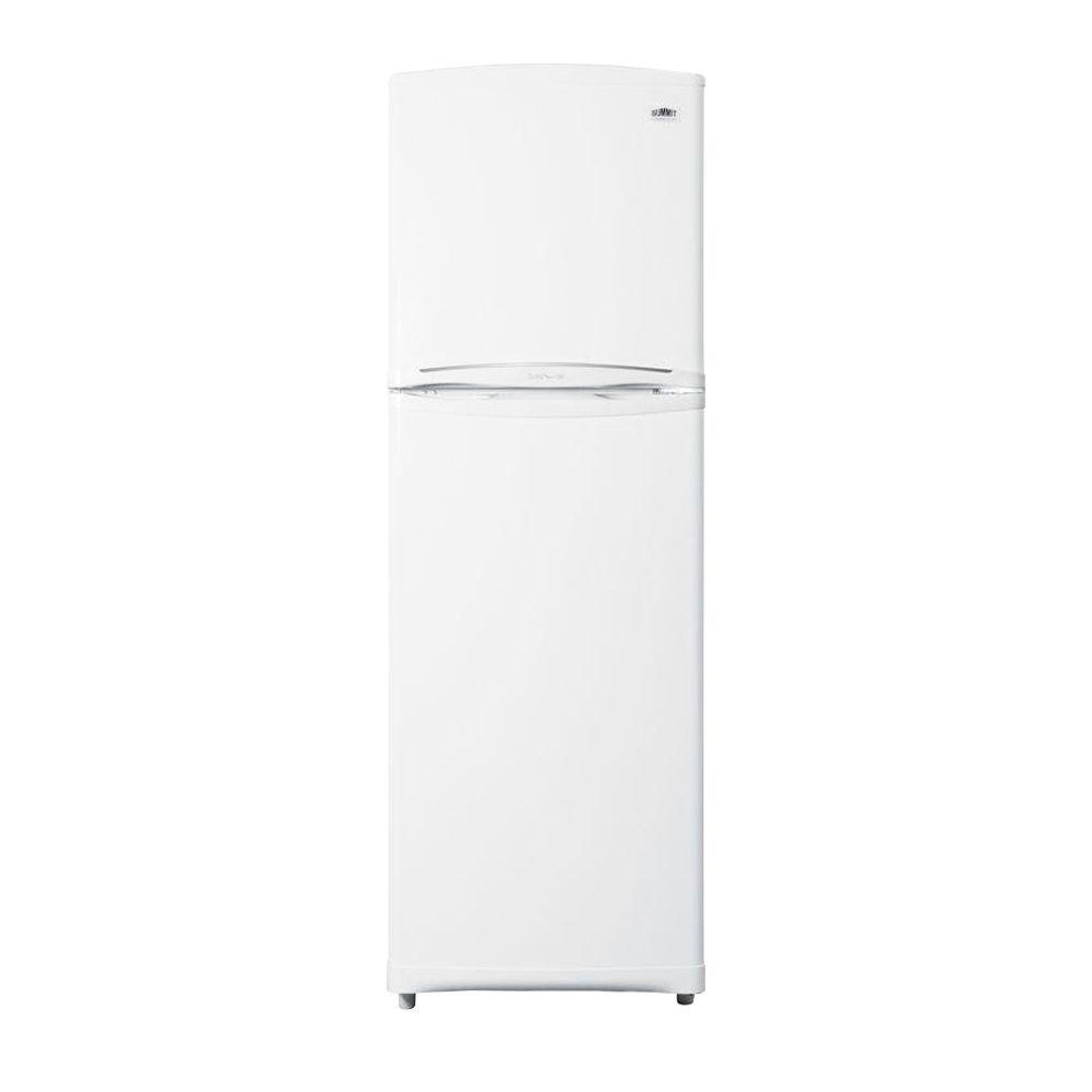 Summit Appliance 10.18 cu. ft. Top Freezer Refrigerator in White, Counter Depth