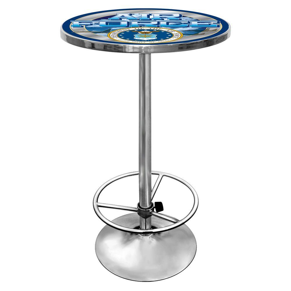 Trademark U.S. Air Force Chrome Pub/Bar Table