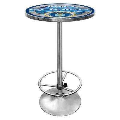 U.S. Air Force Chrome Pub/Bar Table