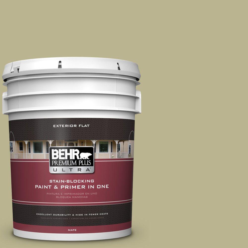 BEHR Premium Plus Ultra 5-gal. #PPU9-10 Wasabi Powder Flat Exterior Paint
