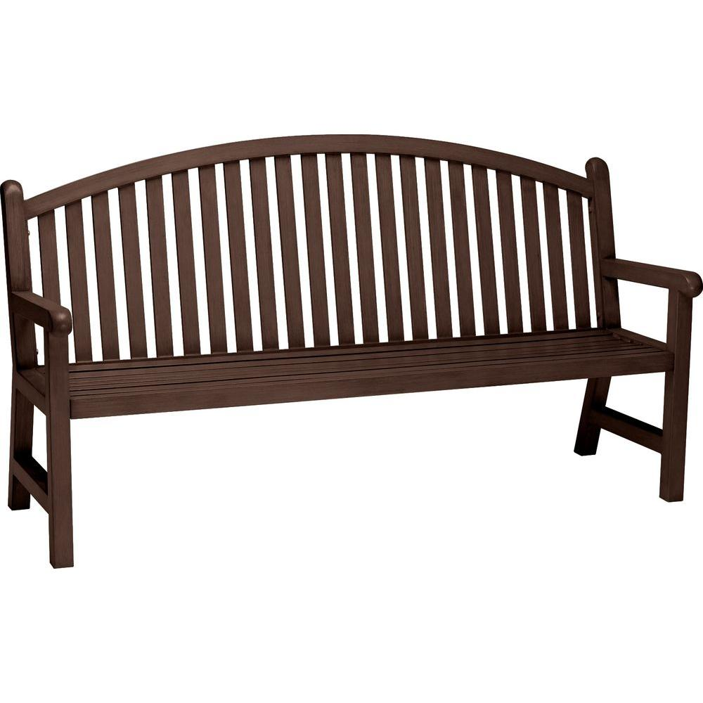 Tradewinds Spring Arbor 6 ft. Arch Back Textured Hazel Nut Bench Slat
