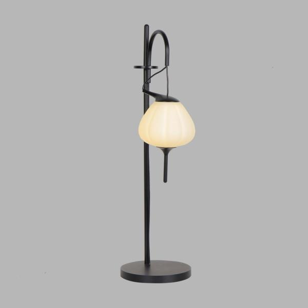Lecce 19.5 in. Black Indoor Table Lamp with 4-Way Touch Integrated LED Technology
