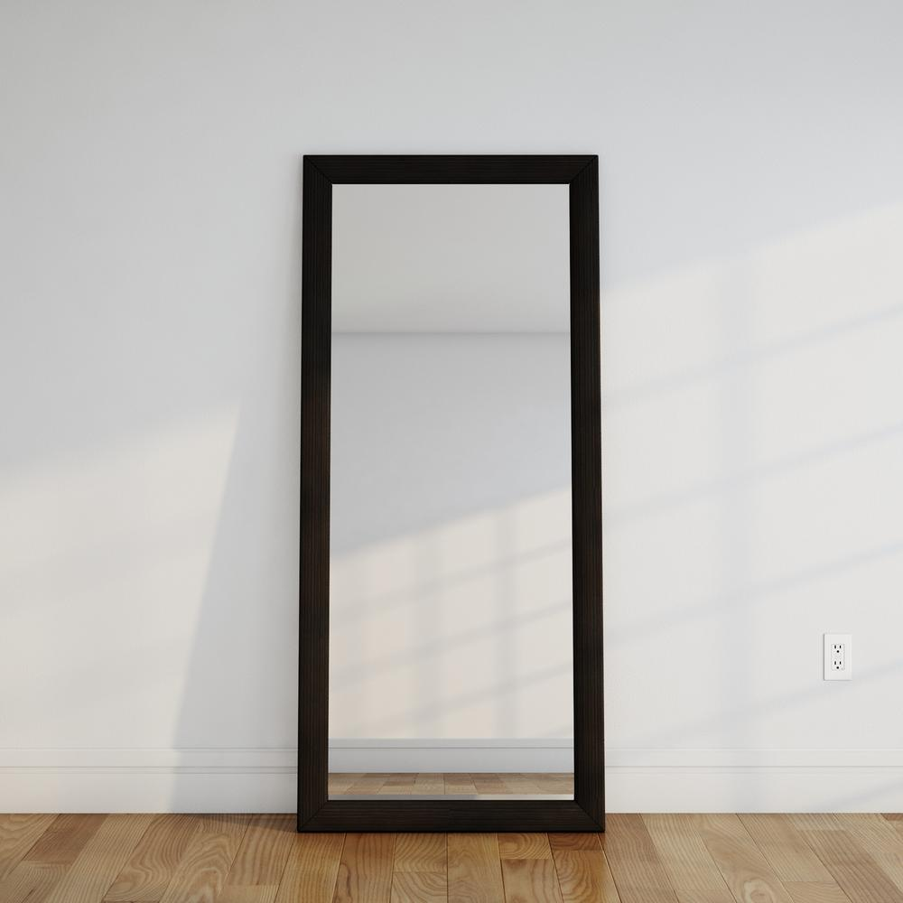 Montauk Night Dark Grey Tall Floor Mirror