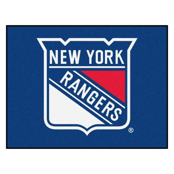 NHL New York Rangers Blue 3 ft. x 4 ft. Indoor All Star Area Rug