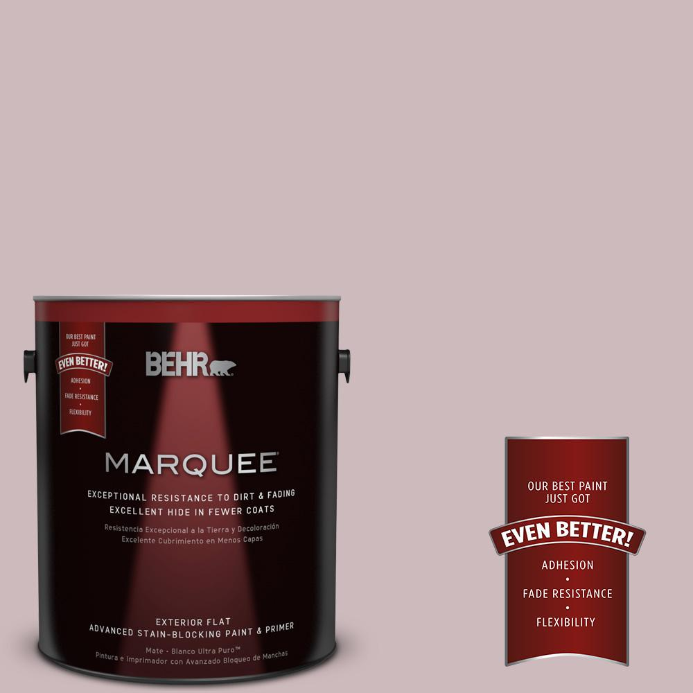 BEHR MARQUEE 1-gal. #N120-3 Mauve It Flat Exterior Paint