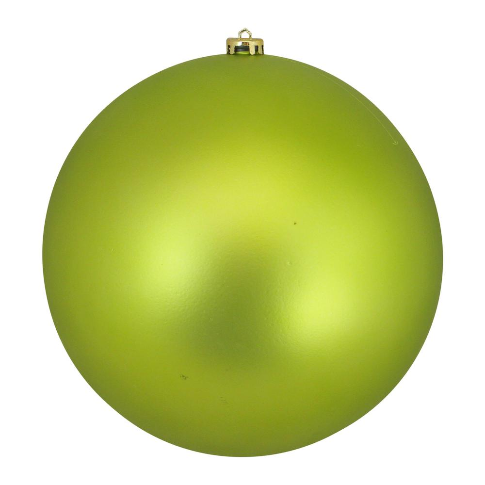 Northlight 10 In 250 Mm Lime Green Commercial Shatterproof Matte Christmas Ball Ornament
