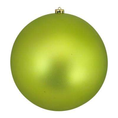 10 in. (250 mm) Lime Green Commercial Shatterproof Matte Christmas Ball Ornament