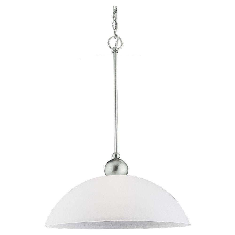 Metropolis 1-Light Brushed Nickel Pendant