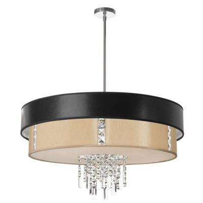 Rita 4-Light Polished Chrome Chandelier