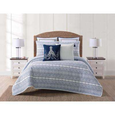Reef Blue Full and Queen Quilt Set