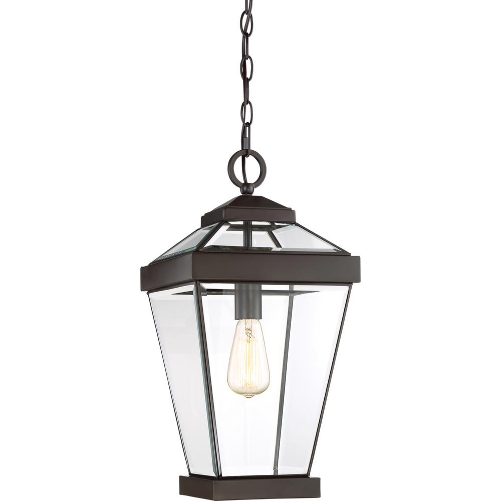 Ravine 1-Light Bronze Outdoor Pendant Light