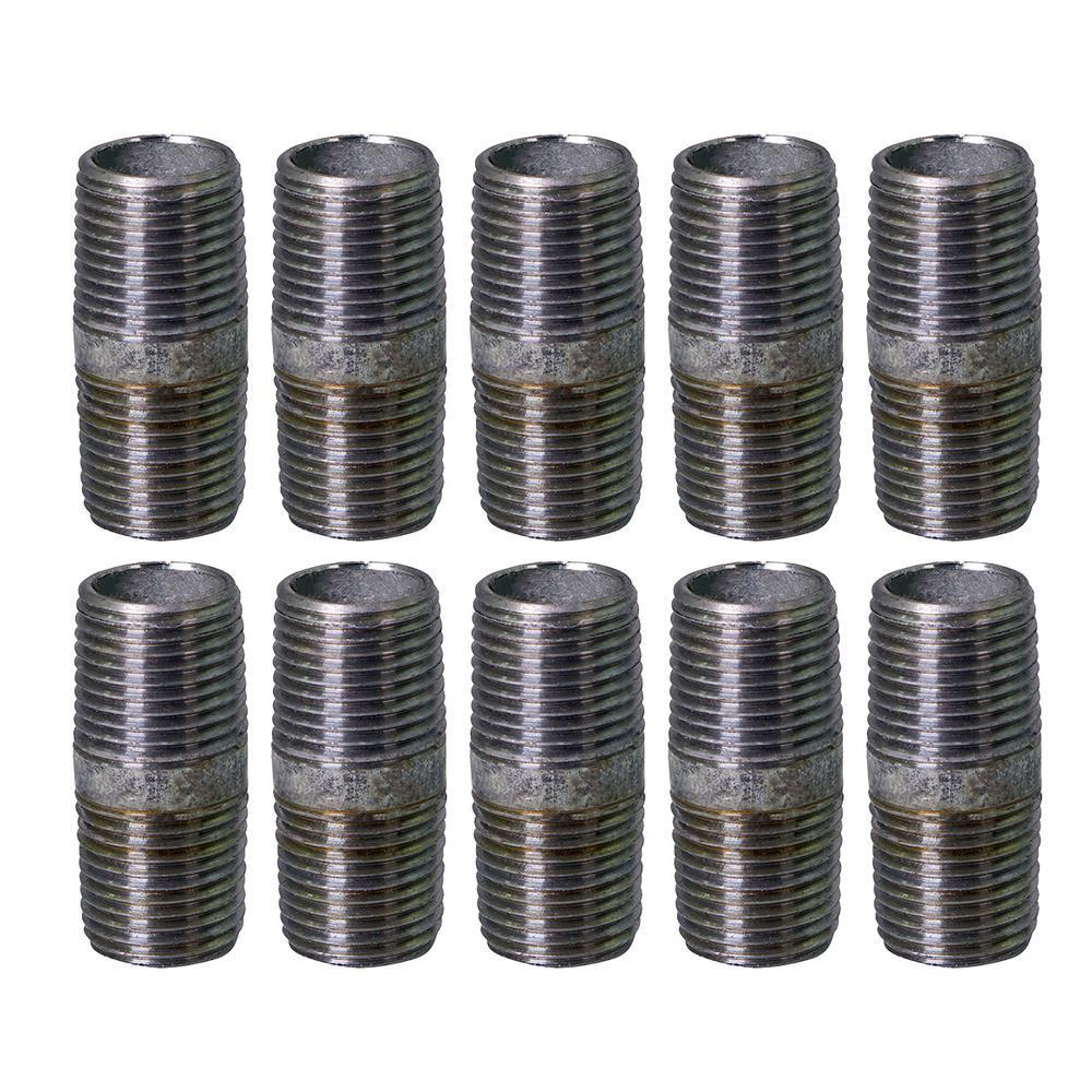 1 in. x 4-1/2 in. Galvanized Steel Nipple Pipe (10-Pack)