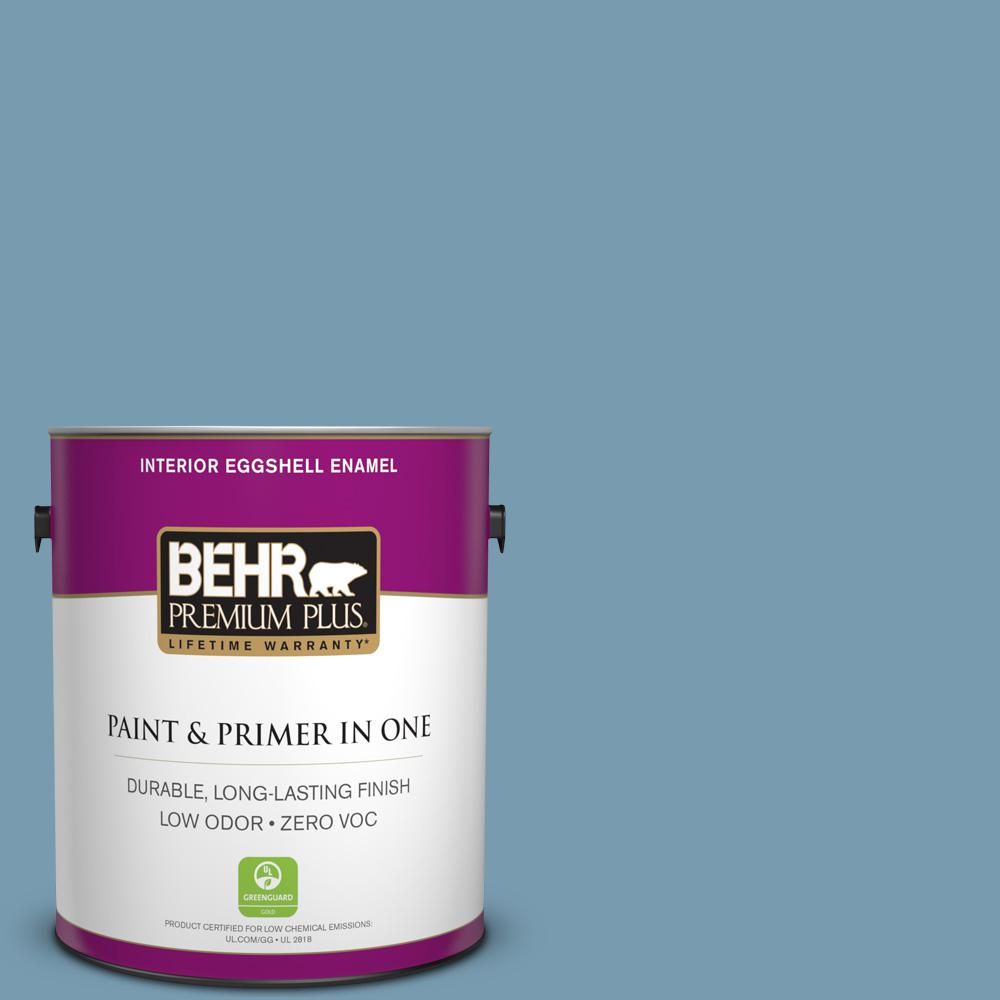 1-gal. #550F-4 Cool Dusk Zero VOC Eggshell Enamel Interior Paint