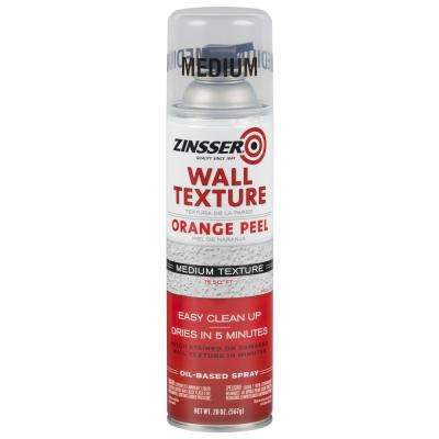 20 oz. Wall Texture Medium Oil-Based Orange Peel Spray Paint (6-Pack)