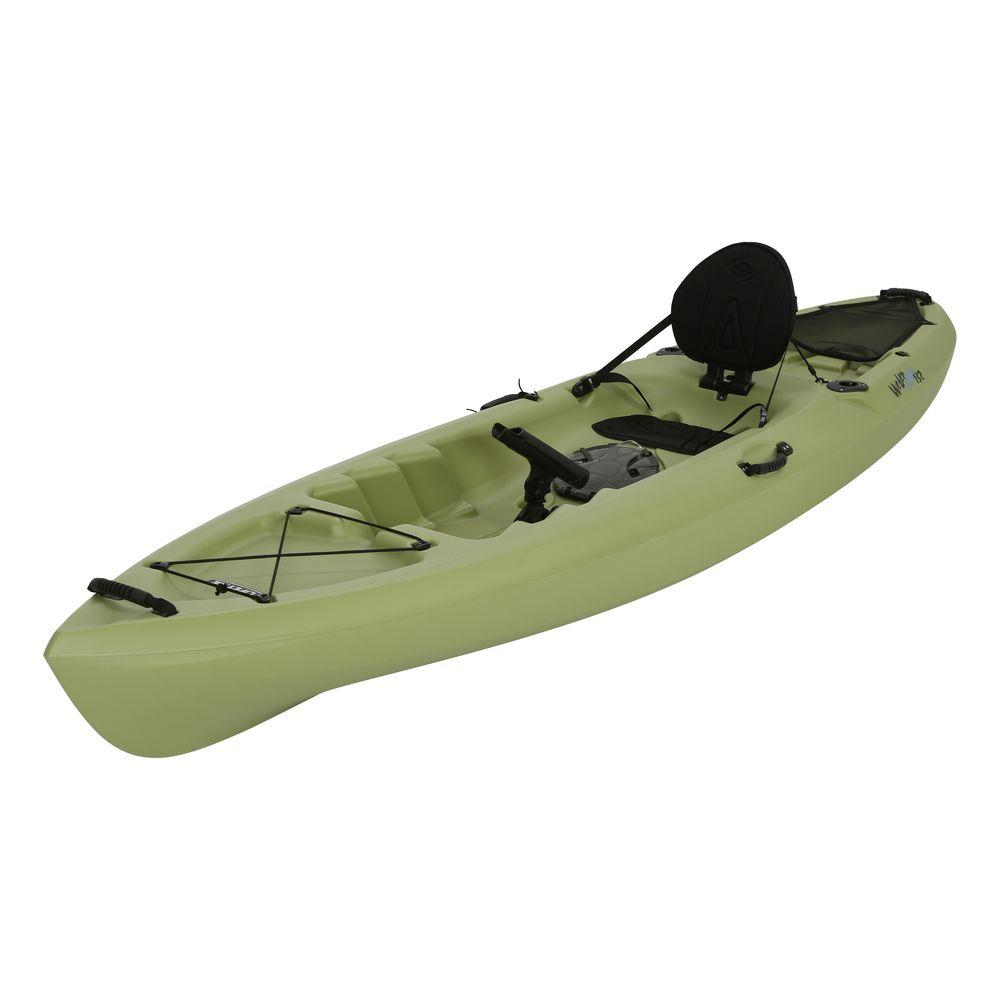 Lifetime weber 11 ft kayak in light olive with back rest for Lifetime fishing kayak