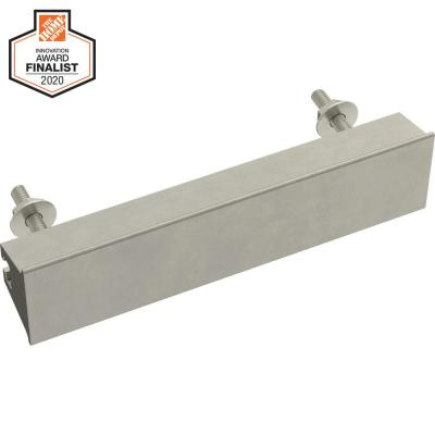 Inclination 1 in. to 4 in. (25 mm to 102 mm) Satin Nickel Adjustable Drawer Pull