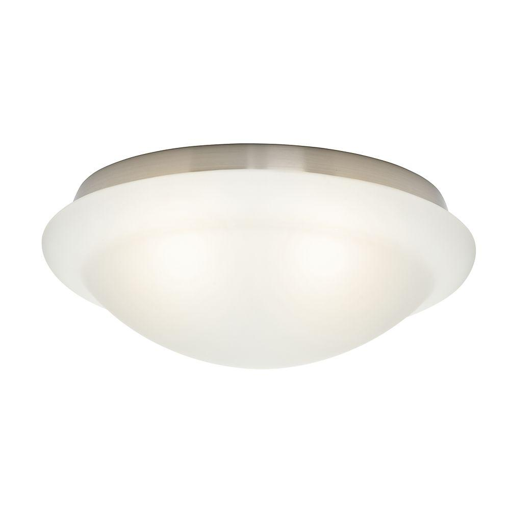 Cased White Stepped Globe for Low-Profile Fitters