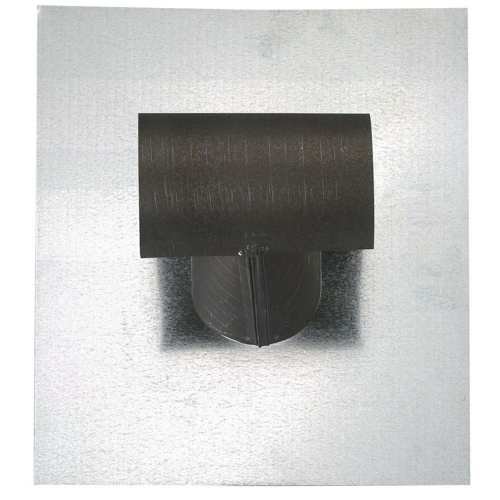 gibraltar building products ttop 7 in bonderized steel exhaust vent pipe flashing