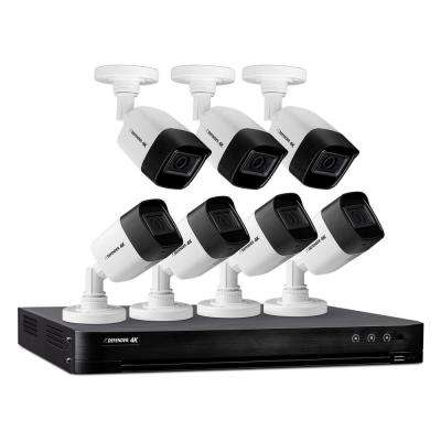 Ultra HD (8MP) 8 Channel 4K 2TB DVR Security Camera System with Remote Viewing and (7-Cameras)