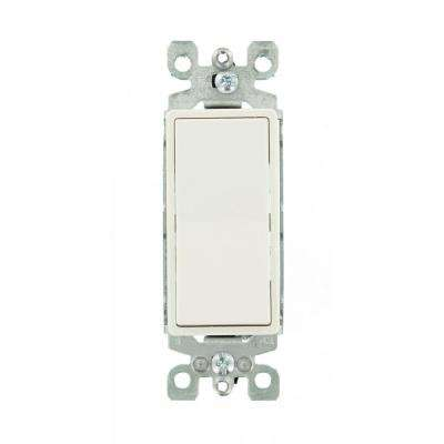 15 Amp 120/277-Volt Decora 1-Pole Residential Grade AC Quiet Illuminated Rocker Switch, White